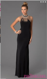 Halter Jeweled Neckline Evening Prom Dress Pd14021 (PD14021) pictures & photos