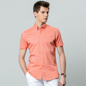 Slim Fit Male Soplid Color Business Latest Shirt Designs for Men pictures & photos