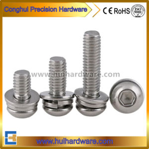 Stainless Steel ISO 7380 Hex Socket Pan Head Combined Screw with Washers pictures & photos