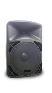 Best Seller 15 Inch 100W Waterproof Guitar Karaoke Tower Mobile Trolley Speakers with Two VHF Microphone pictures & photos