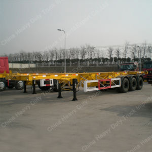 Factory Sale 40FT Container Transporting Skeleton Truck Trailer pictures & photos