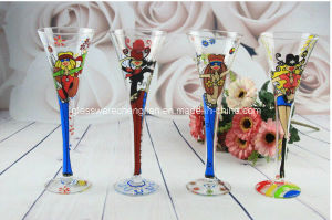 Hand Made Colorful Champagne Glass (XBB-01) pictures & photos