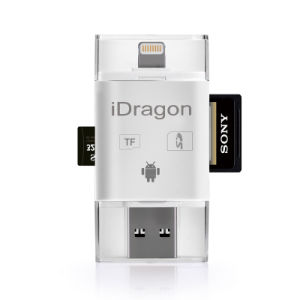 3 in 1 Lightning + USB + Microusb Card Reader SD SDHC Sdxc Microsd Microsdhc Microsdxc Card Reader for Andriod iPhone pictures & photos
