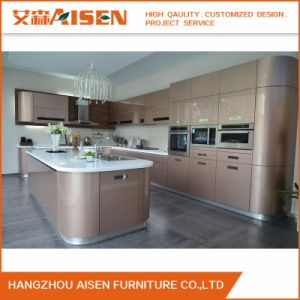 High Quality 2015 Plywood Baking Paint New Kitchen Cabinet Design pictures & photos