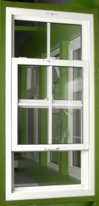America Style Aluminum Single Hung Window pictures & photos
