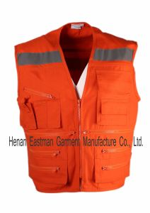 Outdoor Wear 100% Polyester Fishing Vest pictures & photos