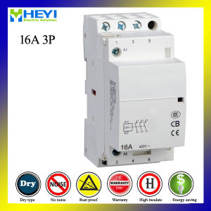 House Hold 220V 3pole 16A AC Contactor Power Supply pictures & photos