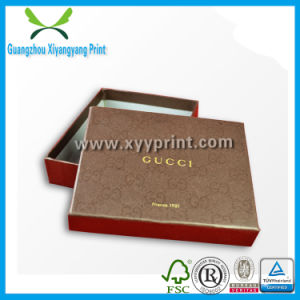 with Gold Hot Stamp Logo Paper Cardboard Cosmetic Box Packaging pictures & photos