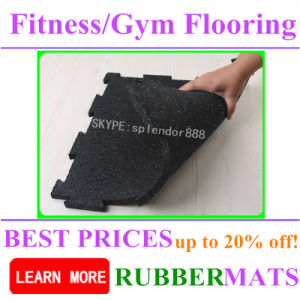 Fitness Gym Rubber Flooring Mats pictures & photos