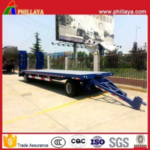 Full Drawbar Lowbed Towing Wholesale Trailer with Ladders pictures & photos
