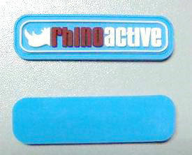Fashion Blue Customized PVC Rubber Patch pictures & photos