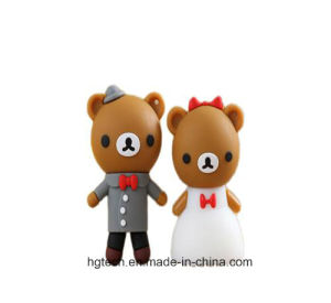 Top Quality Lovely Bear Wedding Gift USB Flash Drive (HBU-67)