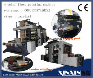 Straight Gear Control Speed 120m Per Min 4 Color Flexo Printing Machine pictures & photos