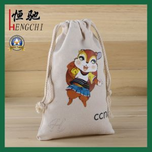 High Quality Plain Color Cotton Drawstring Backpack Bag pictures & photos