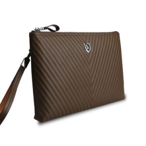 Men Travel Wallet Wristlet Genuine Leather Business Envelope Clutch Bag pictures & photos