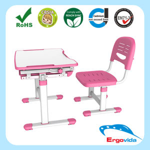 Single Cheap Ergonomic Kids Study Desk Table Chair Set