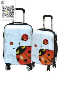 ABS/PC Printing Ladybird Design 4 Wheels Trolley Case pictures & photos
