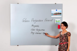 Wall Mounted Glass Writing Whiteboard with Projection Function pictures & photos