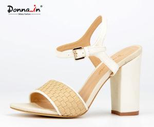 2017 Fashion Lady Casual Denim High Heels Women Sandals Shoes
