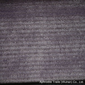 Soft Velvet Polyester Sofa Fabric with Twill Stripes pictures & photos