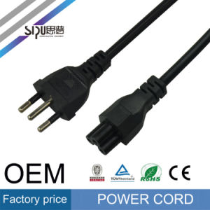 Sipu Brazil AC Power Cord Wholesale 3-Pin Computer Power Cable pictures & photos