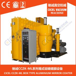 Ce Certified Glass Mirror Box Type Vacuum Aluminium Metallizng Machine for ABS Plastic Substrate pictures & photos