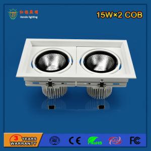 Wholesale 90lm/W 15W*2 Aluminum LED Grille Light pictures & photos