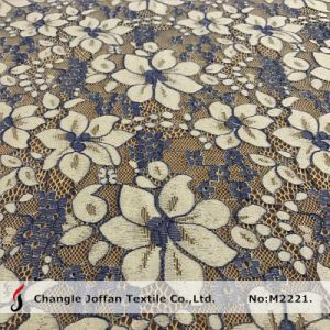 Two Color Scalloped Cotton Flower Lace Fabric Wholesale (M2221) pictures & photos