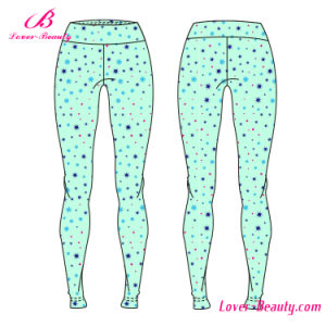 Ultra Skinny Flat Waist Stars Printed Sportwear Yoga Leggings pictures & photos