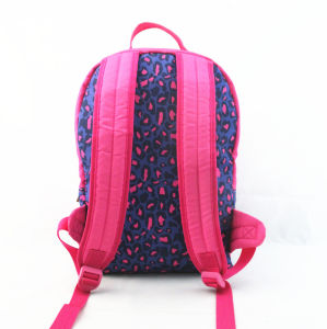 Pink Leopard Print School Backpack pictures & photos