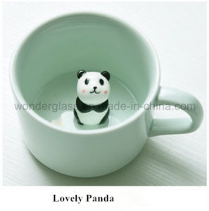 Creative Small Ceramic Milk Mug with Animals Cute Cartoon Inside pictures & photos