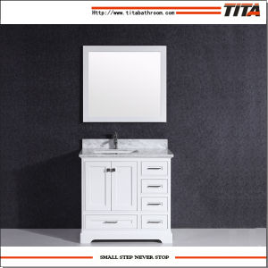 Solid Wood Bathroom Vanity Cabinet T9311-48W pictures & photos
