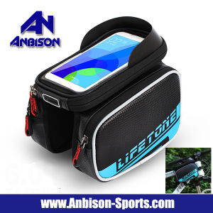 Bicycle Bike Beam Sides Bag 6.2 Inch Phone Touch Screen Bag pictures & photos