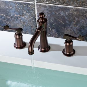3 Piece Set Faucet Oil Rubbed Bronze Sink Faucet pictures & photos