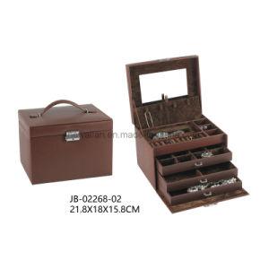 New Design Classic Black PU Leather Jewelry Storage Box Jewelry Box pictures & photos