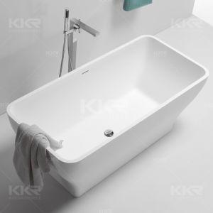 Simple Acrylic Solid Surface Stone Resin Bathroom Bathtub pictures & photos
