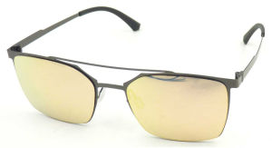 FM171258 Flat Top Nylon Lens with Mirror Square Frame Good Quality Sunglasses pictures & photos