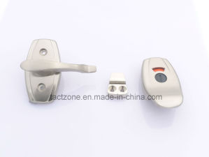 Modern Factory Directly Zinc Alloy Toilet Door Lock with Handle pictures & photos