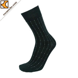 2017 Spring Merino Square DOT Business Socks of Men′s (163008SK) pictures & photos