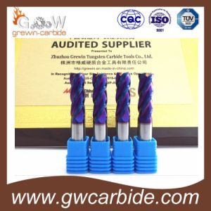 Solid Carbide End Mill Tialn Coating 4 Flutes HRC 60 pictures & photos