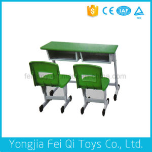 Indoor Kids Educational Equipment Children′s Double Desks and Chairs (lift type) pictures & photos