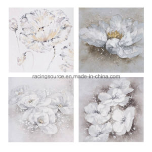 Modern 100% Hand-Painted Flower Oil Canvas Painting pictures & photos