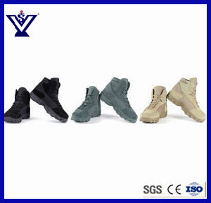 Comfortable Tactical Military Desert Khaki Hunting Shoes Combat Boots (SYSG-201733) pictures & photos