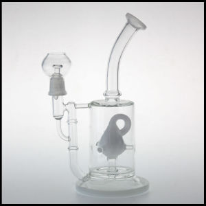 in Stock Hookah Glass Water Smoking Pipe Tobacco Recycler Oil Rigs Bubbblers Custom Mobius Perc pictures & photos