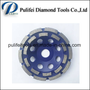 Wet Use Metal Segment Steel Base Diamond Grinding Cup Wheel pictures & photos