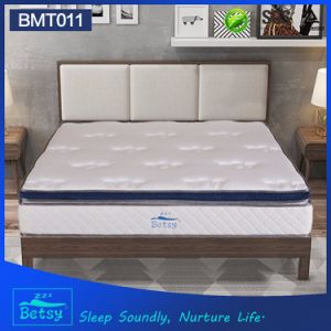 OEM Compressed Pocket Spring Mattress 28cm Box Top Design with Gel Memory Foam and Massage Wave Foam pictures & photos