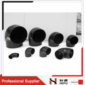 Black Plastic HDPE Material Drainage Pipe 90 Degree Elbow pictures & photos