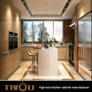 Modern High Gloss Lacquer Kitchen Cabinet with Island for Individual House pictures & photos
