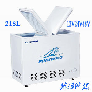 Purswave Bd/Bc-218 218ldc 12V/24V/48V Solar Chest Freezer -20 Degree Accumulator Battery Powered Refrigerator Butterfly Doors pictures & photos