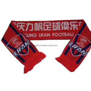 Wholesale Acrylic Knitted Custom Jacquard Sport Fan Scarf pictures & photos
